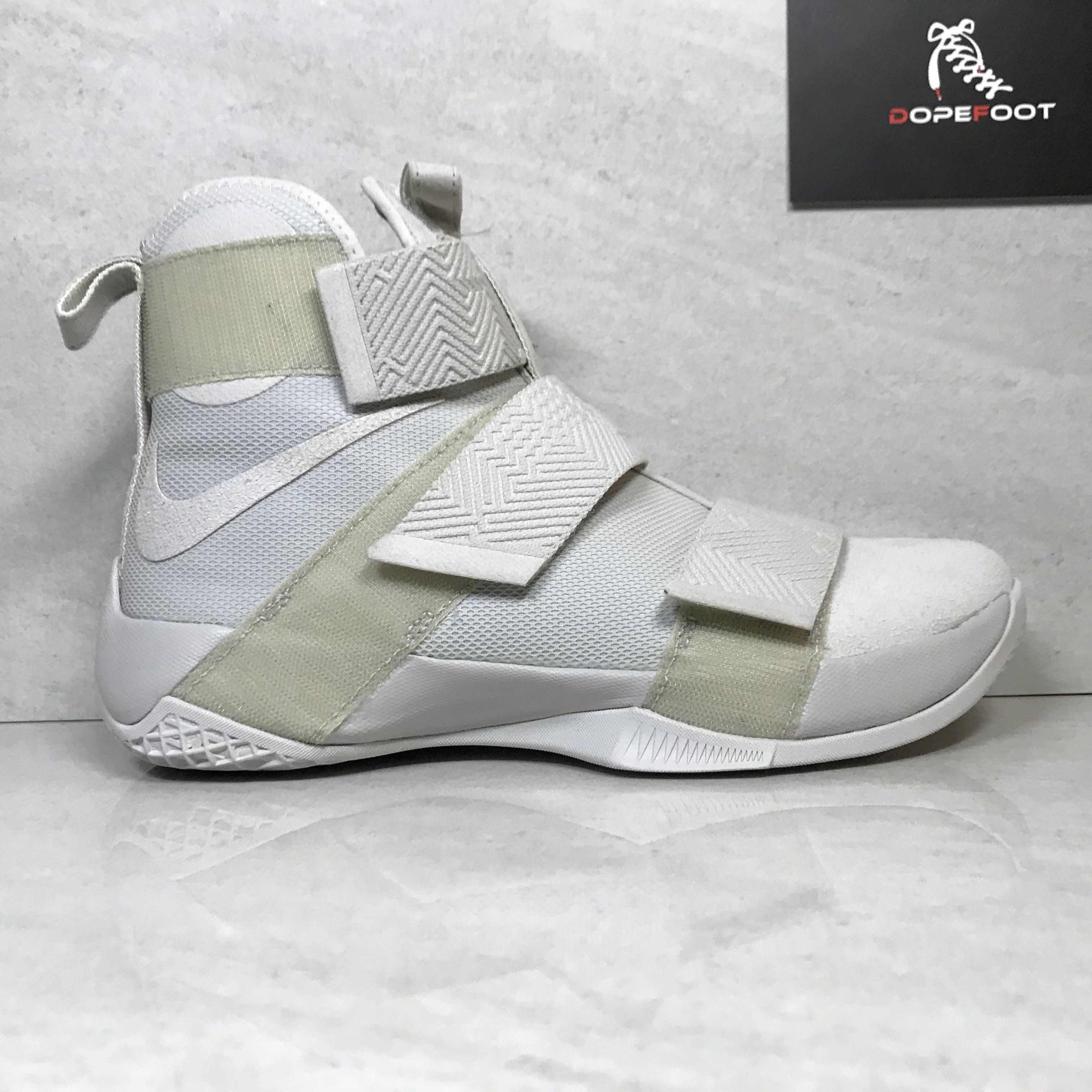 e4e1b774fbe DS Nike Lebron Soldier 10 X SFG LUX Light Bone Size 9 Size 9.5 Size 10