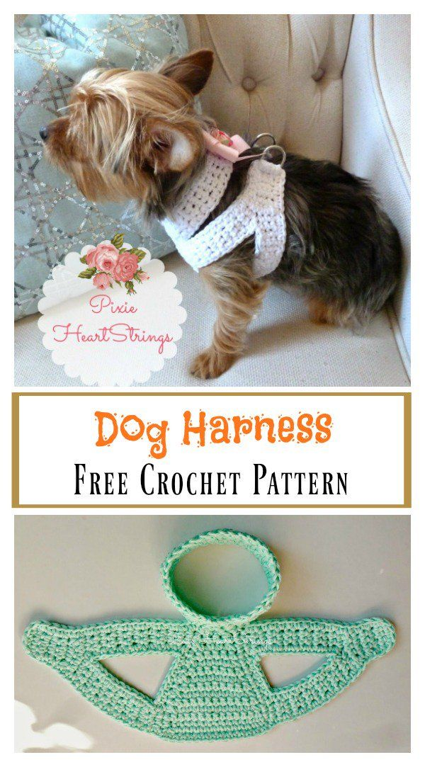 Dog Harness Free Crochet Pattern | Kočičárny | Pinterest | Mascotas ...