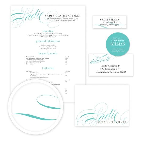 Elegant Script Sorority Packet    Our complete sorority packets - cover letter for mailing resume