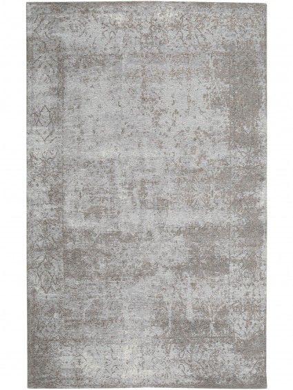 Flachgewebe Teppich Frencie Baroque Grau