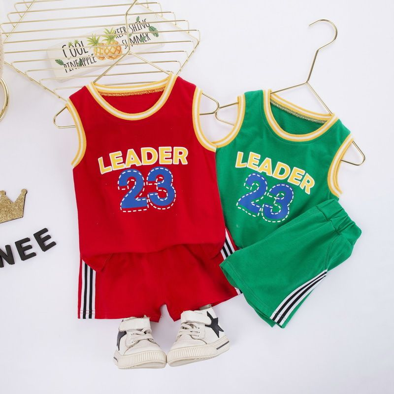 Boys Basketball Jersey Short Sleeves T-Shirt Short Pants Clothes Outfit Set