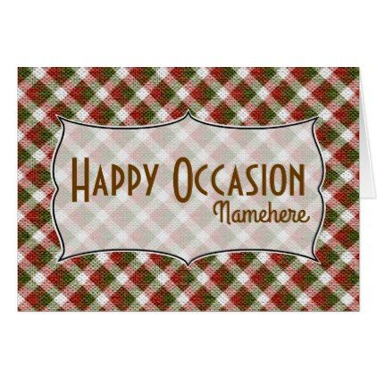 Create Your Own Christmas Gingham Holiday Card  Create Your Own