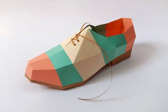Diy Papercraftspaper Shoepointed Shoeprintable Shoe3d Etsy Paper Shoes Colorful Shoes Make Your Own Shoes