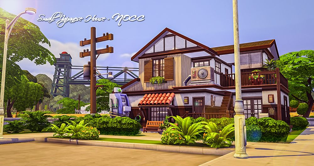 Simsmissdd — I made a Japanese style house for you. Hope