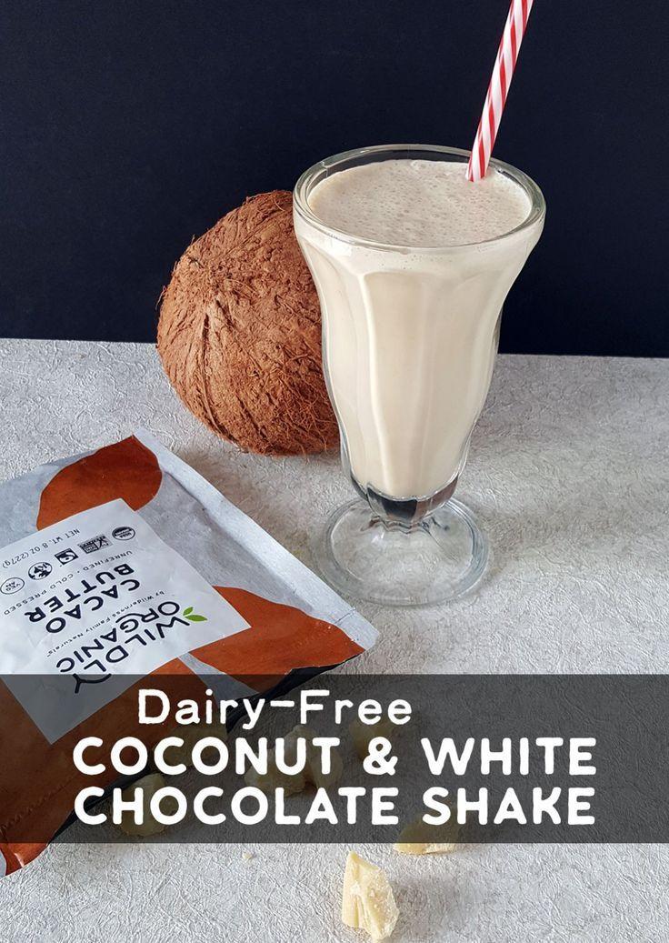 Dairy-Free Coconut  #healthychocolateshakes