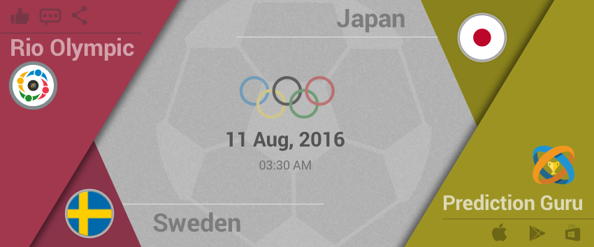 #Rio #2016 #Olympics #Football Upcoming Match 3:30am IST Japan v Sweden Predit2Win at
