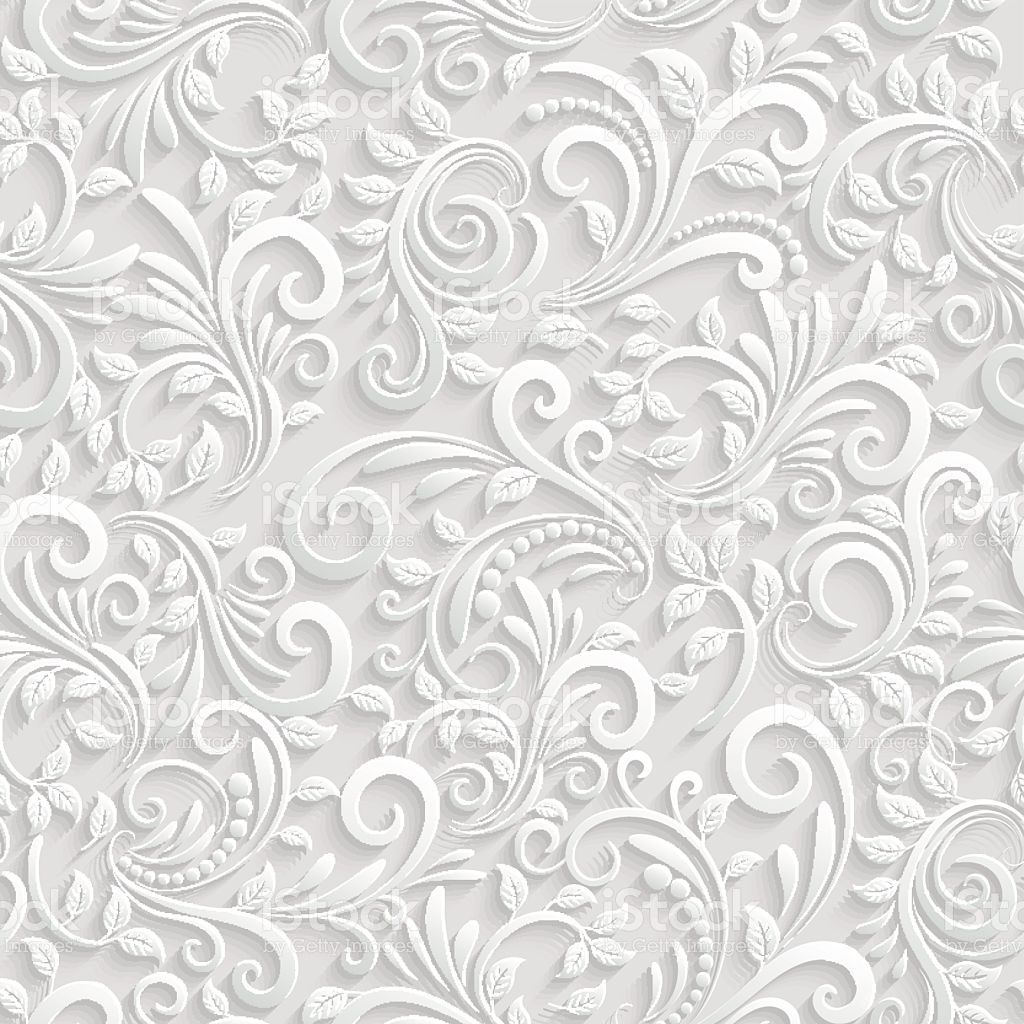 Vector Floral 3d Seamless Pattern Background. For
