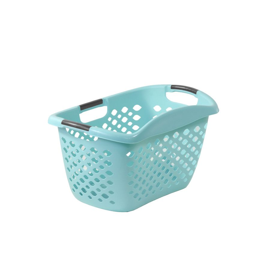 Lowes Laundry Baskets Home Logic 175Bushel Plastic Basket Or Clothes Hamper  Room Dream