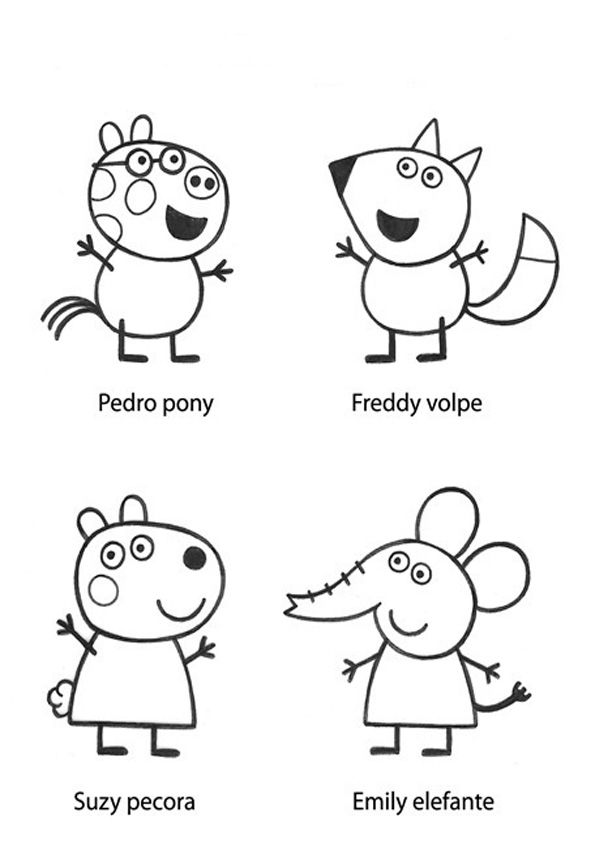 TE CUENTO UN CUENTO Dibujos para colorear Peppa pig  dibujos