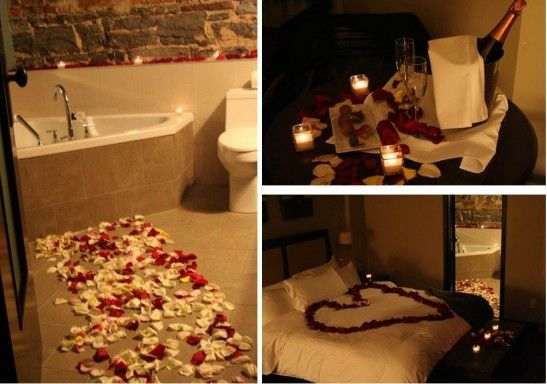 Romantic Night Ideas Hotel Room Decoration Romantic Wedding Night