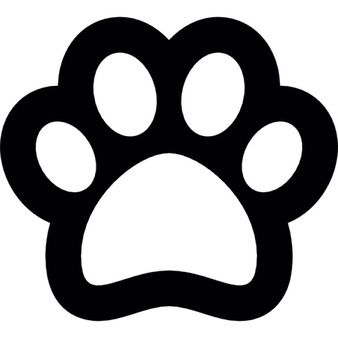 Dog Footprint Outline Paw Template Dog Paw Print Paw Patrol Party Paw patrol foot print free png stock. www pinterest co kr