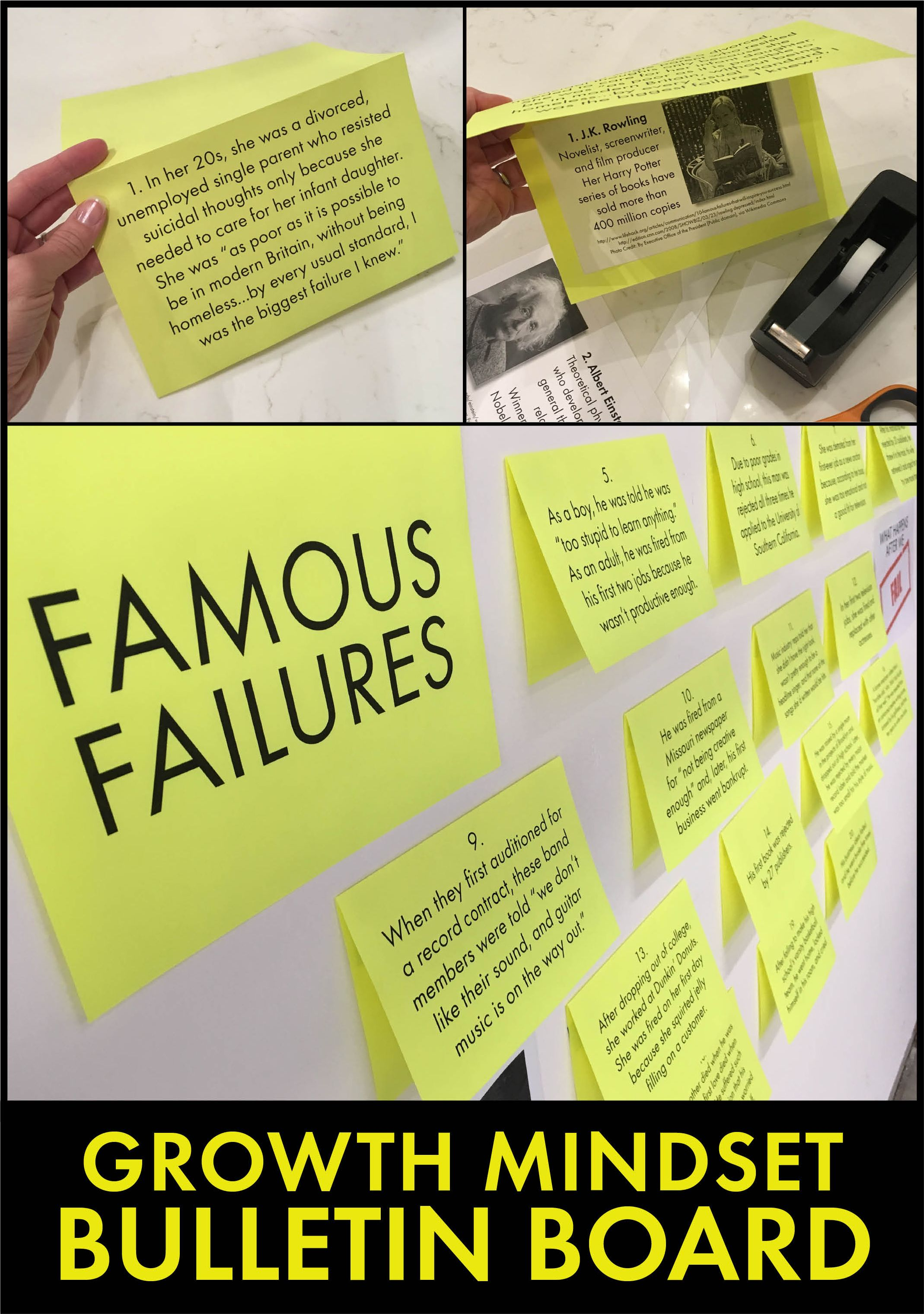 Famous Failures Vol 1 Interactive Growth Mindset