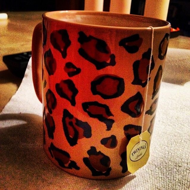 Set Of 3 Coffee Cup Canvas Wraps: Leopard Cup