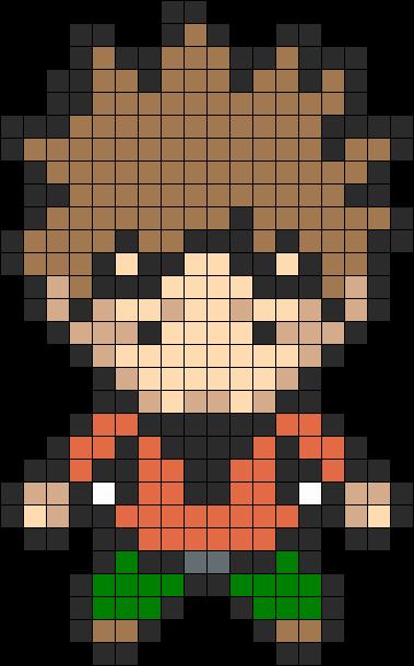 Brock Pokemon Gym Leader bead pattern