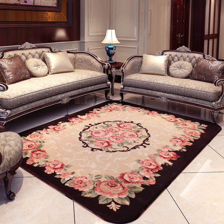 Kingart Washable Rug Living Room Carpet Thick Floor Blanket Yoga Mat