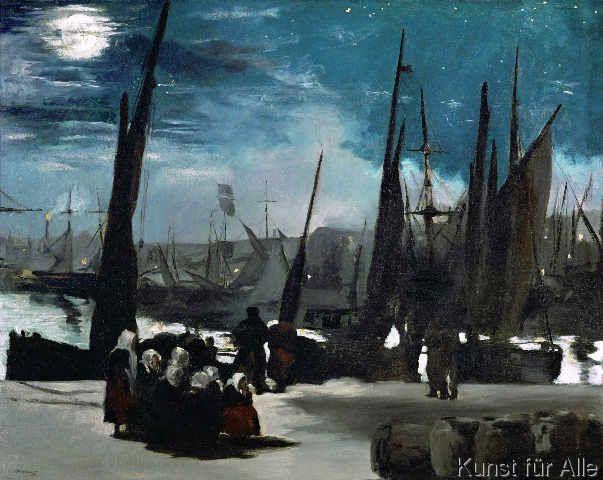 Edouard Manet - Clair de lune sur le port de Boulogne (68,0 x 54,0 cm)