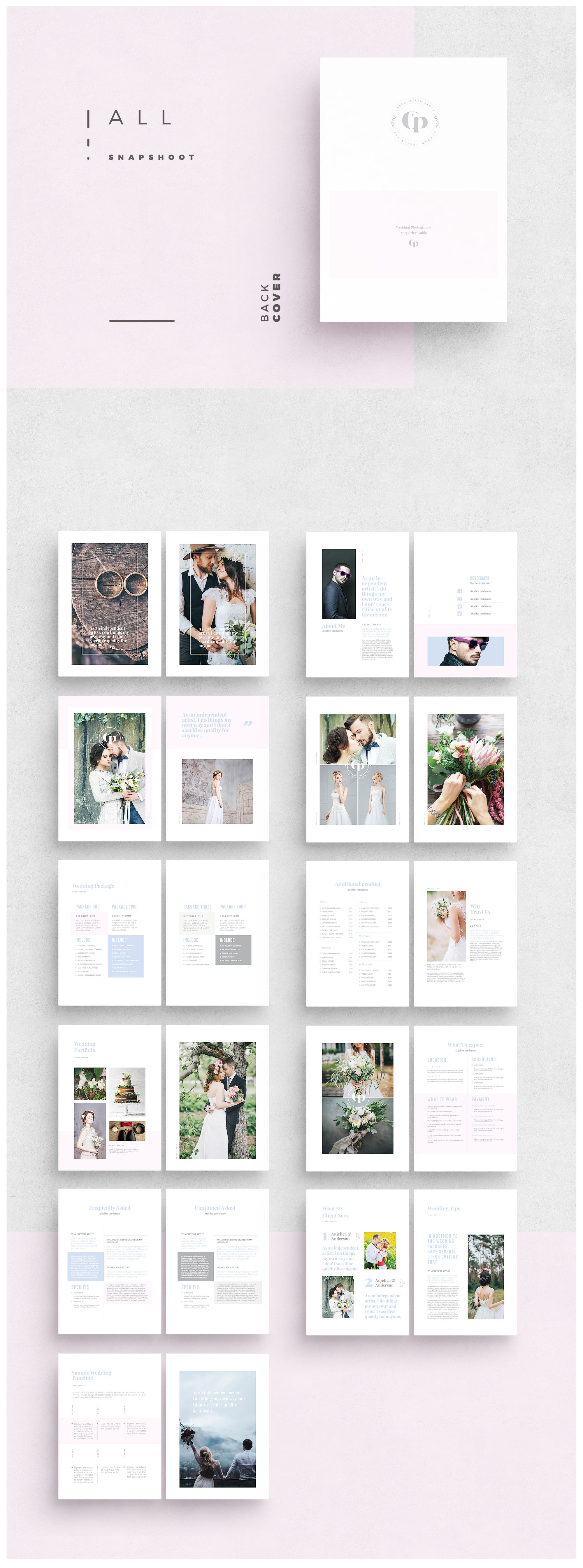 photoshop templates photography brochure template wedding marketing
