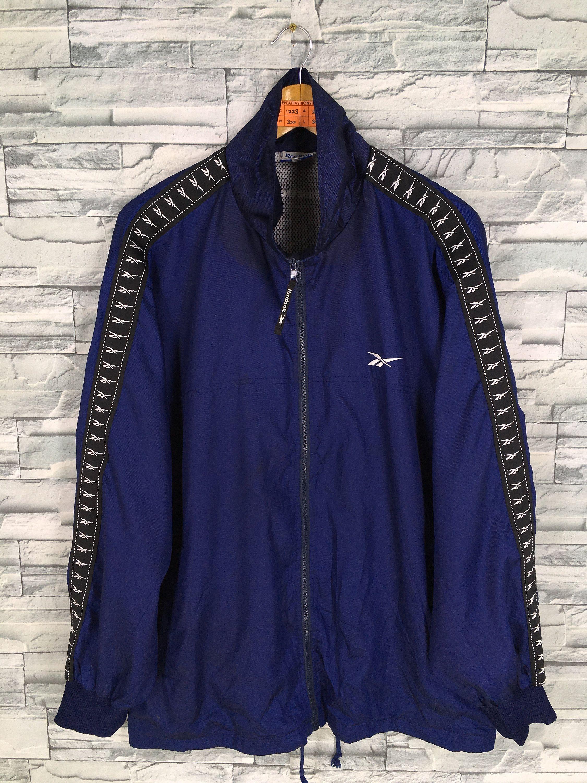 Vintage 90 S Reebok Windbreaker Jacket Large Reebok Side Tapes Sportswear Streetwear Reebok Sports Windrun Adidas Sweater Windbreaker Jacket Adidas Windbreaker [ 3000 x 2250 Pixel ]