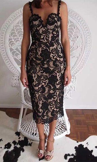 34+ Black lace bustier midi dress inspirations