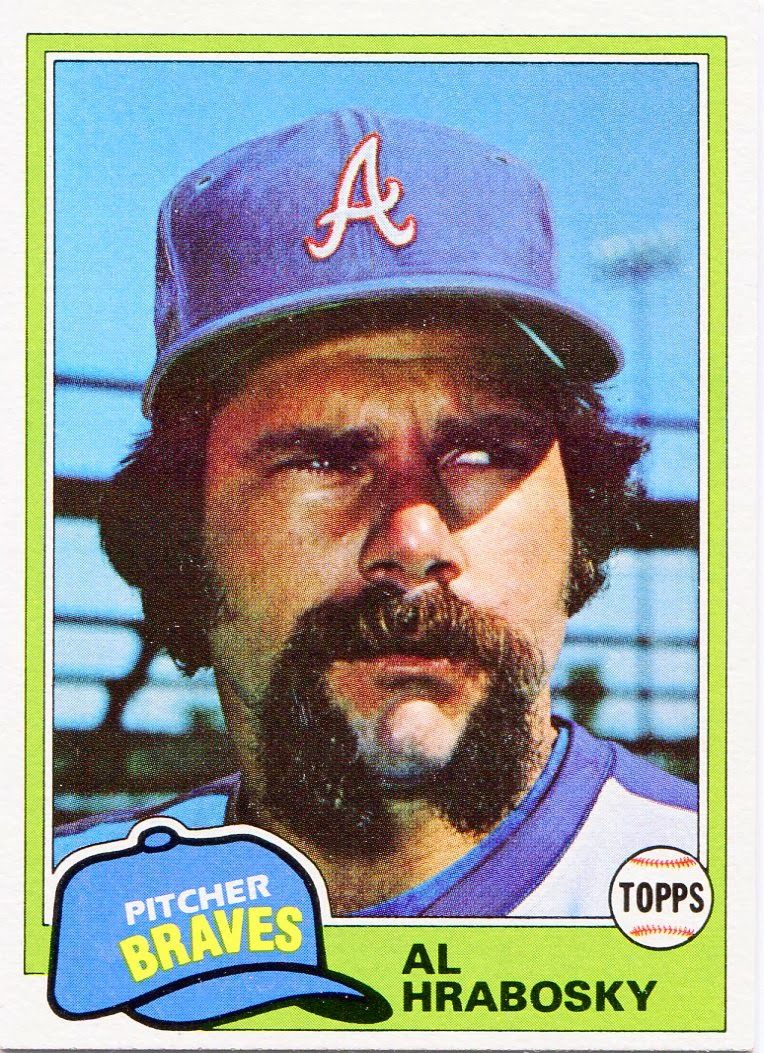 1981 Topps Al Hrabosky Baseball Cards Active Announcers