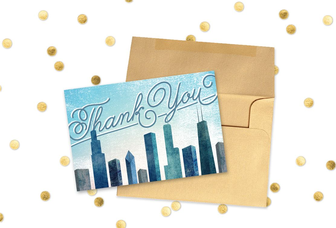 free templates for wedding response cards%0A Free Printable Thank You Card Chicago Wedding  download the files and  print your own cards