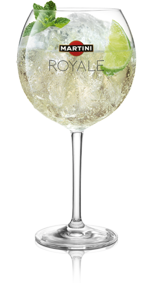 Martini royale bianco cocktail
