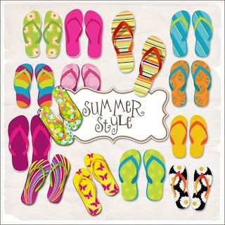 a61f936d17cd Summer Flip Flops Freebie Digital Scrapbook Paper