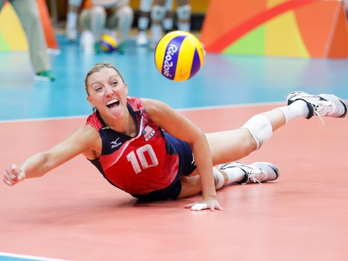 United States Wing Spiker Jordan Larson Burbach 10 Olympic Volleyball Rio Olympics Olympics