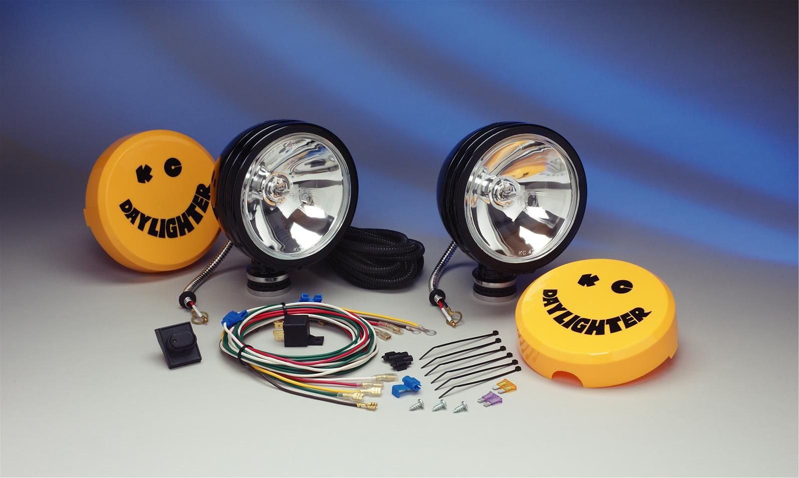 Kc Hilites Daylighters 238 Free Shipping On Orders Over 99 At Wiring Harness Daylighter Deluxe Quartz Halogen Black Long Range Off Road Light Kit Are