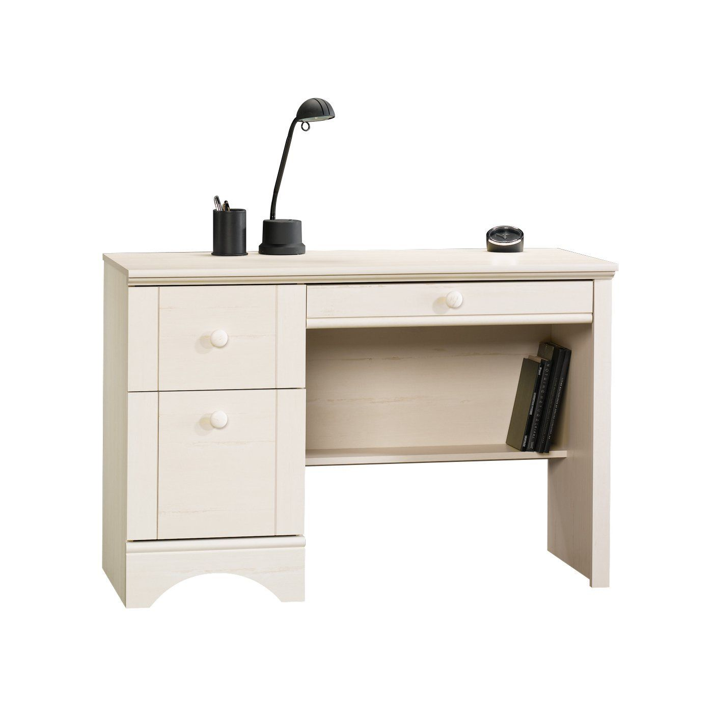Amazon Com Sauder Harbor View Computer Desk Antiqued White