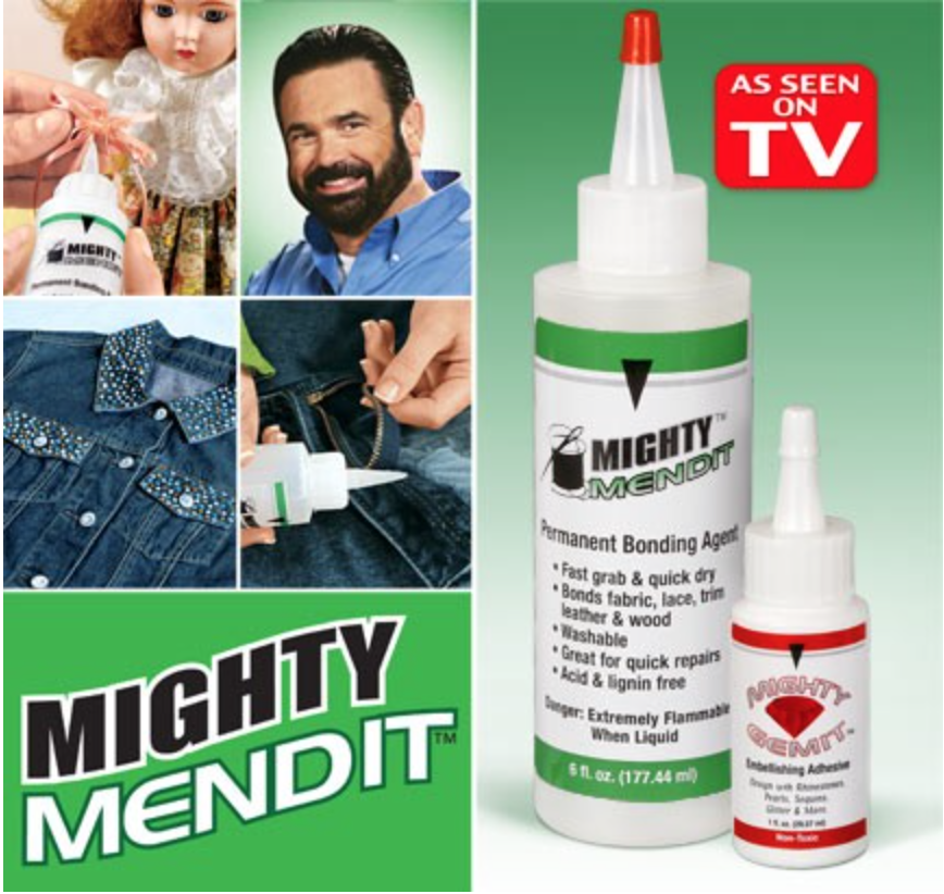 Mighty Mendit The Fast And Easy Way To Mend Hem And Repair All Fabrics From Pants To Couch Cushions Mighty Mendit Has Y Huge Tv Healthy Beards See On Tv