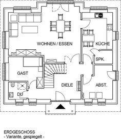 haus mit tollem grundriss einrichten und wohnen pinterest haus haus bauen und haus grundriss. Black Bedroom Furniture Sets. Home Design Ideas