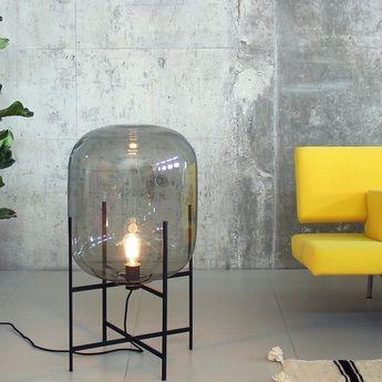 Lampe  poser Oda Small verre fumé gris H45cm PULPO