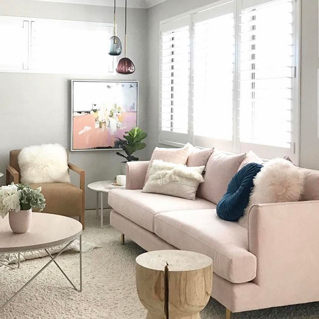 Blush Pink Sofas Add A Touch Of Color To Your Living Room Pink