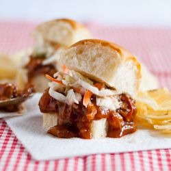 Slow cooker bbq pulled pork sliders. Food, Drink, and Recipes on TasteSpotting