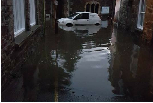Camborne and Redruth were hit hardest by last night's storms, with flooding leaving cars submerged and schools shut. Tesco Extra supermarket in Pool and Tesco Redruth were closed after water...