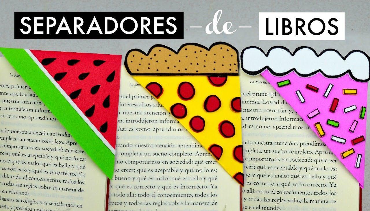 separadores de libros sandía pizza y pastel espacio creativo