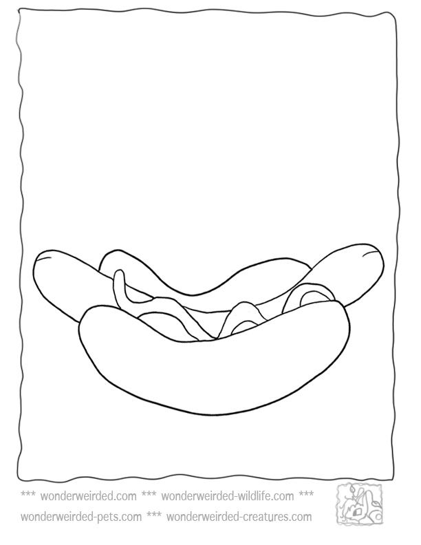 hot dog coloring page - Google Search | ABC.. easy as 123 ...