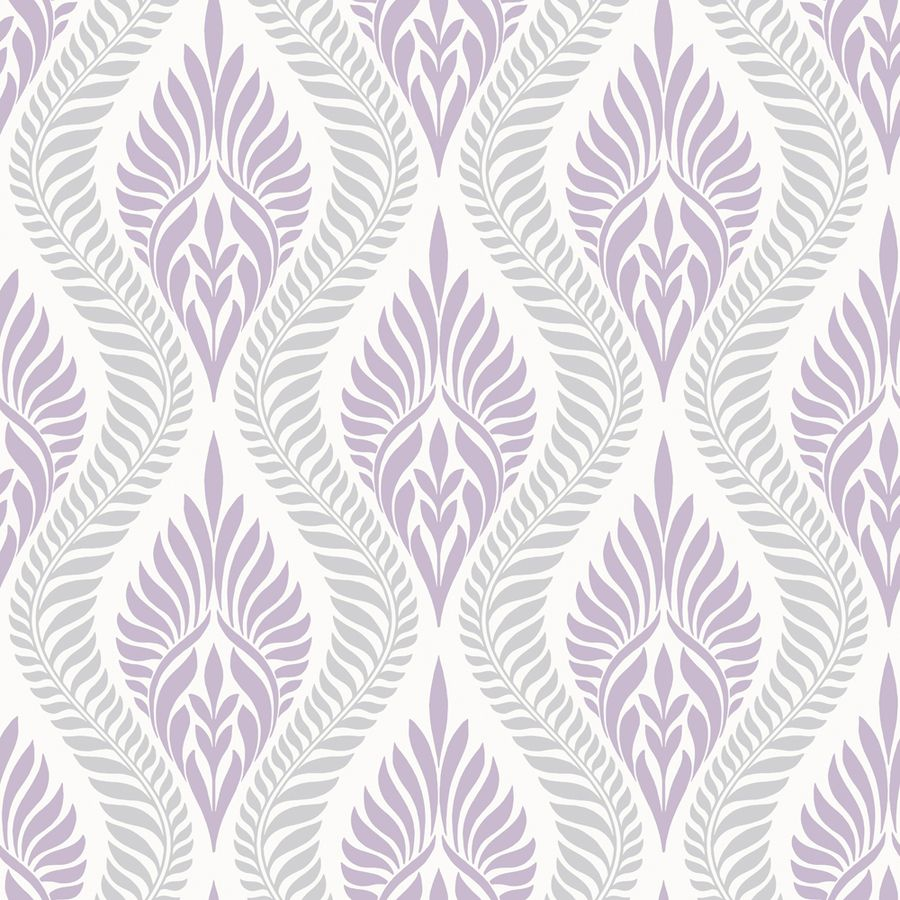 Allen Roth Lilac Silver Strippable Non Woven Paper Prepasted Classic Wallpaper