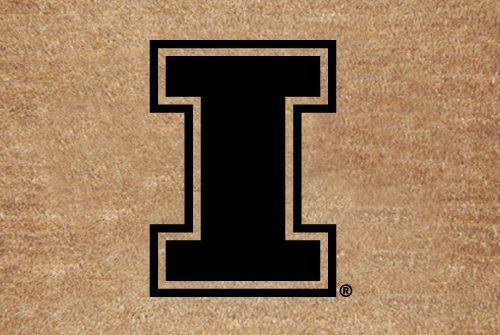 """Illinois Flocked Door Mat by The Memory Company. $22.99. Size 29.2"""" x 19.5"""". NCAA Illinois Flocked Door Mat"""