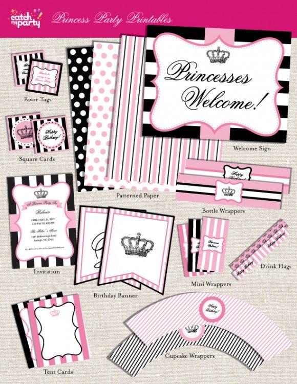 graphic relating to Princess Party Printable identified as Pin upon Princess Bash Tips