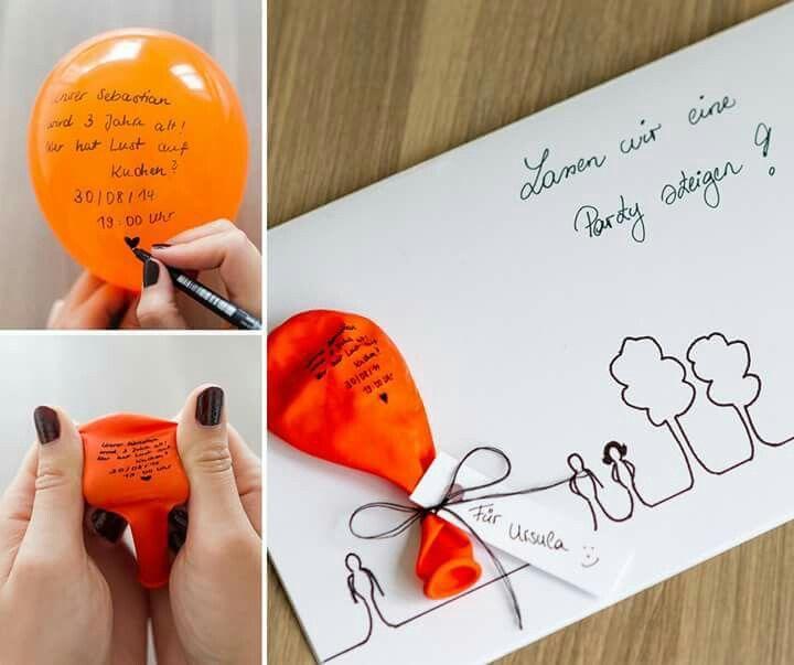 Klasse Idee Einladungen Einladung Basteln Einladung Geburtstag