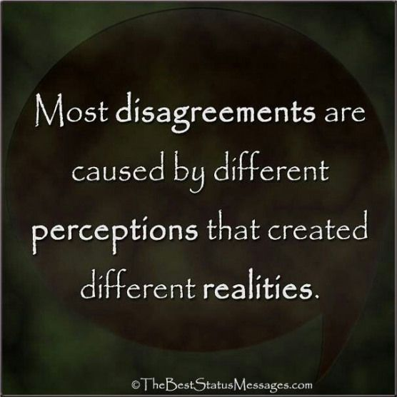 The difference between perception and absolute truth ...
