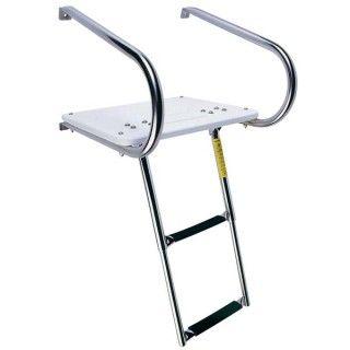 Garelick I O Swim Platform With Telescoping Ladder Platform Ladder Boat Ladders Ladder