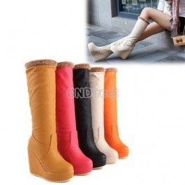 $14.10 Ladies  Round Head Synthetic Leather Slugged Bottom  Boot