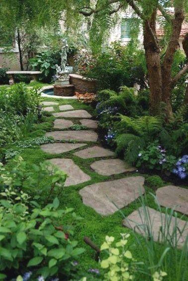 Photo of Gartenweg für ein originelles und dekoratives Äußeres