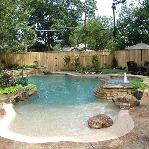 Zero Entry Pool Its A Beach Pool Entry For Dogs Backyard Pool Designs Small Pool Design Backyard Pool