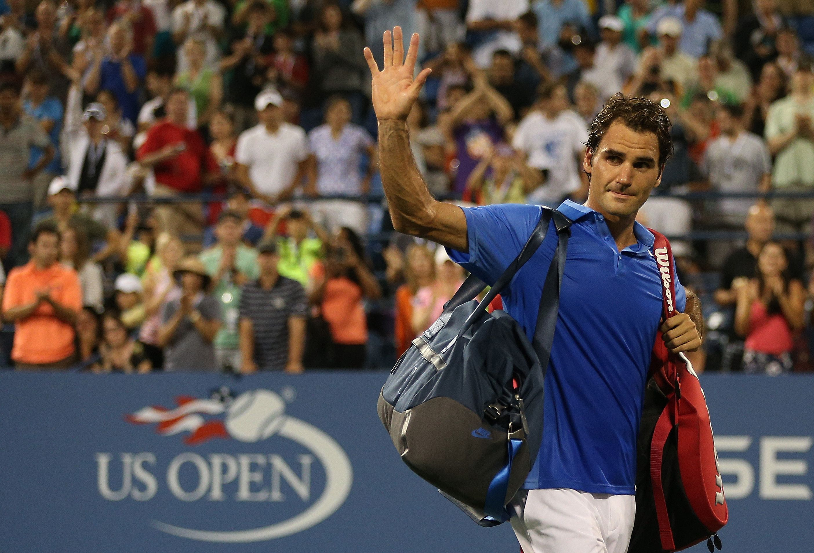 Roger Federer Was Knocked Out Of The Us Open On August 3 2013 After Losing To Tommy Robredo In The Fourth Round In S Tommy Robredo Tennis World Roger Federer