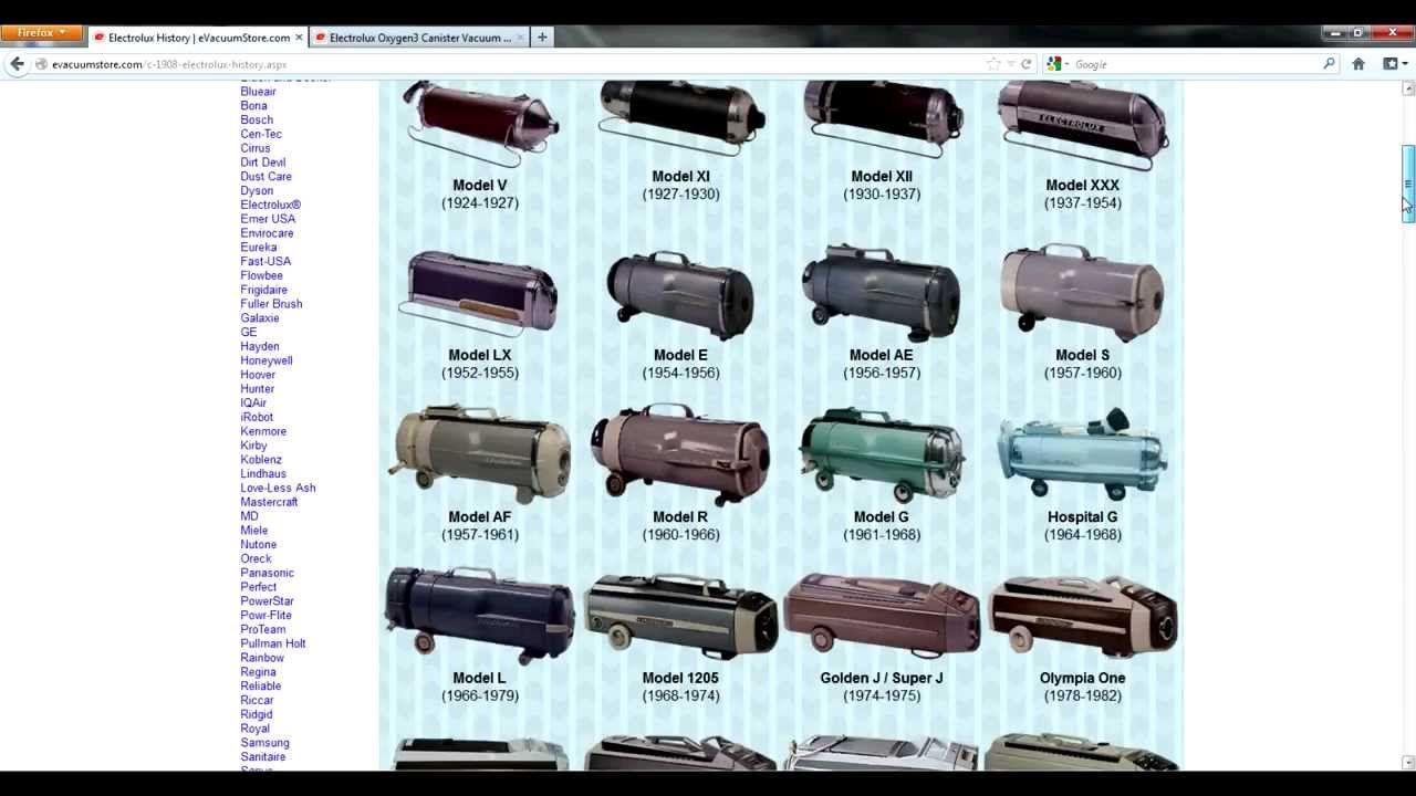 Vintage Electrolux Vacuum Cleaners Viewing Gallery Electrolux Vacuum Electrolux Canister Vacuum