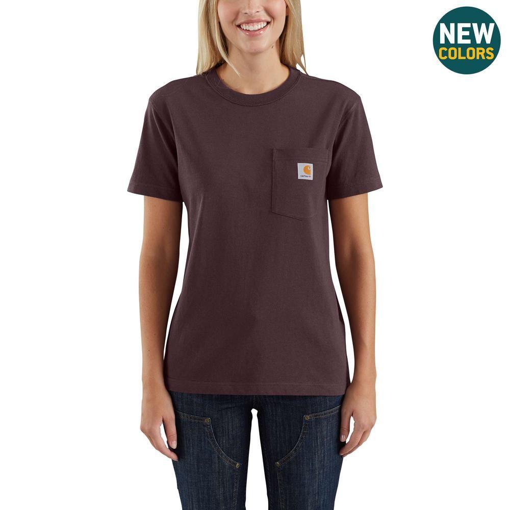 Carhartt Women S Medium Deep Wine Cotton Workwear Pocket Short